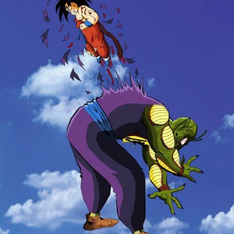 3. Gokú mata a Piccoro Dai Maku luego de una dura batalla. Pero este deja un huevo. Foto:Toei