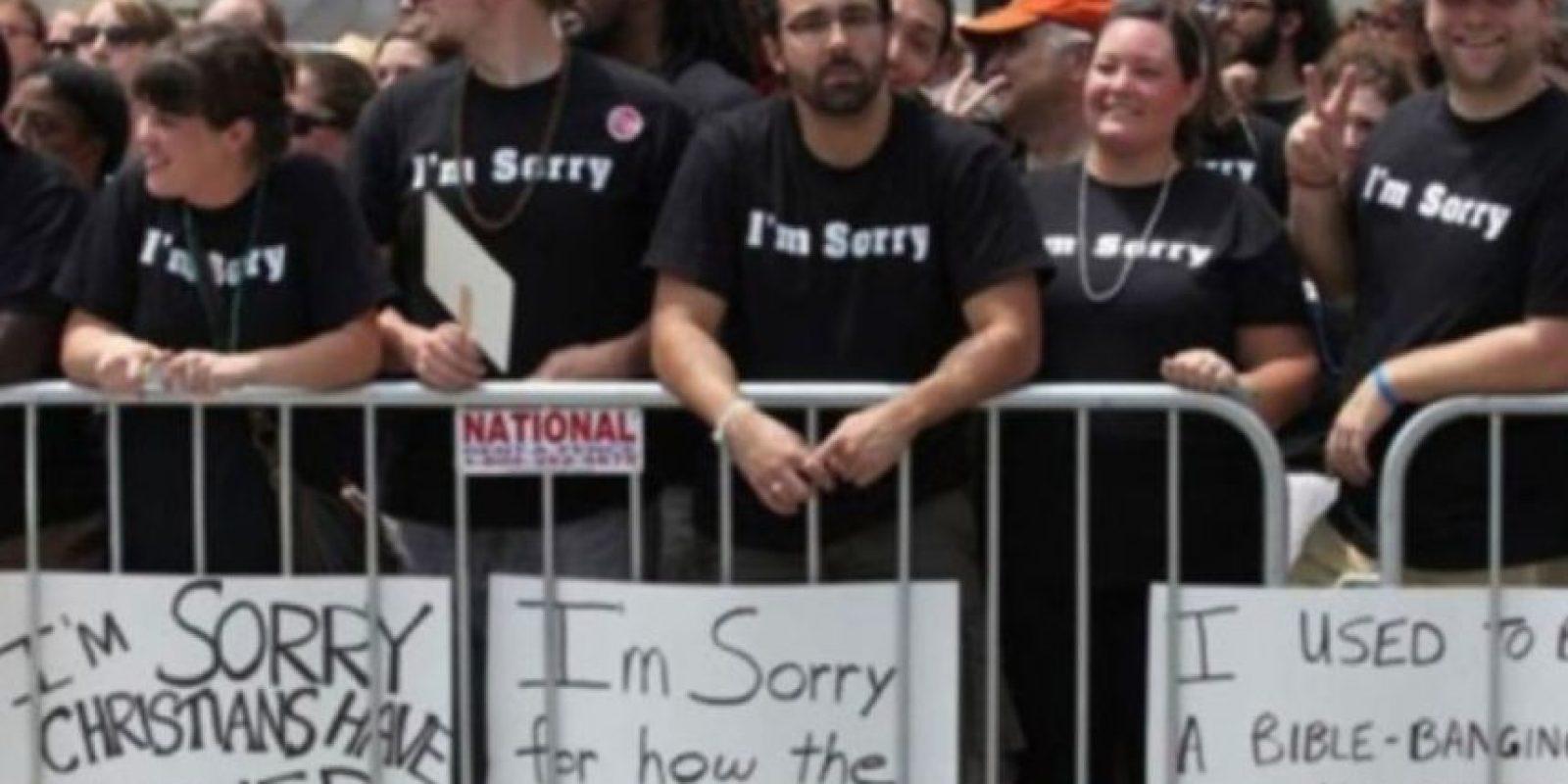 Cristianos se disculpan con gays por su homofobia Foto:Tumblr