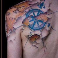 ¡Mapa! Foto:Tattoo.com/lippo-tattoo