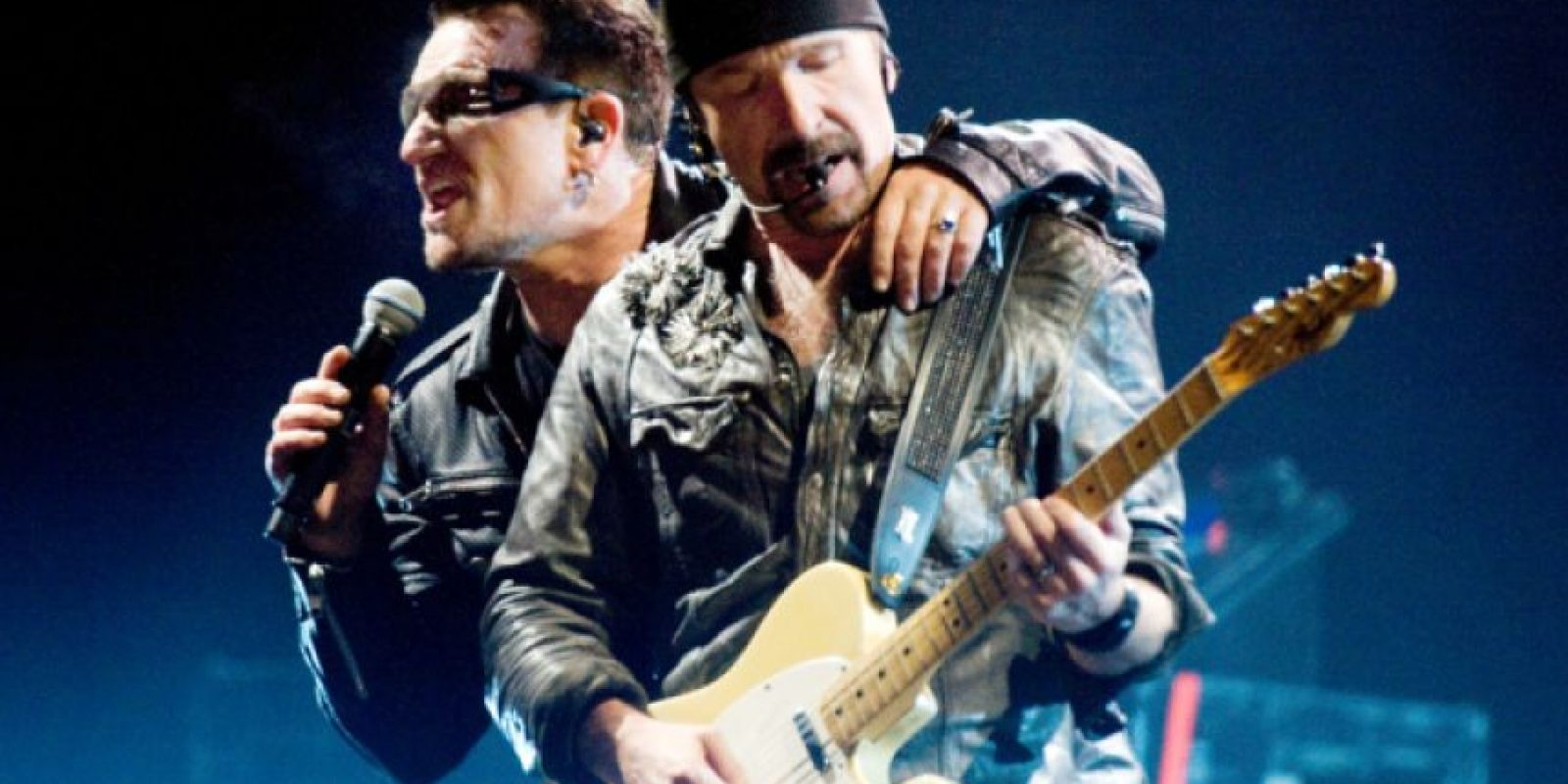 Bono Y The Edge integrantes de U2 Foto: Agencias