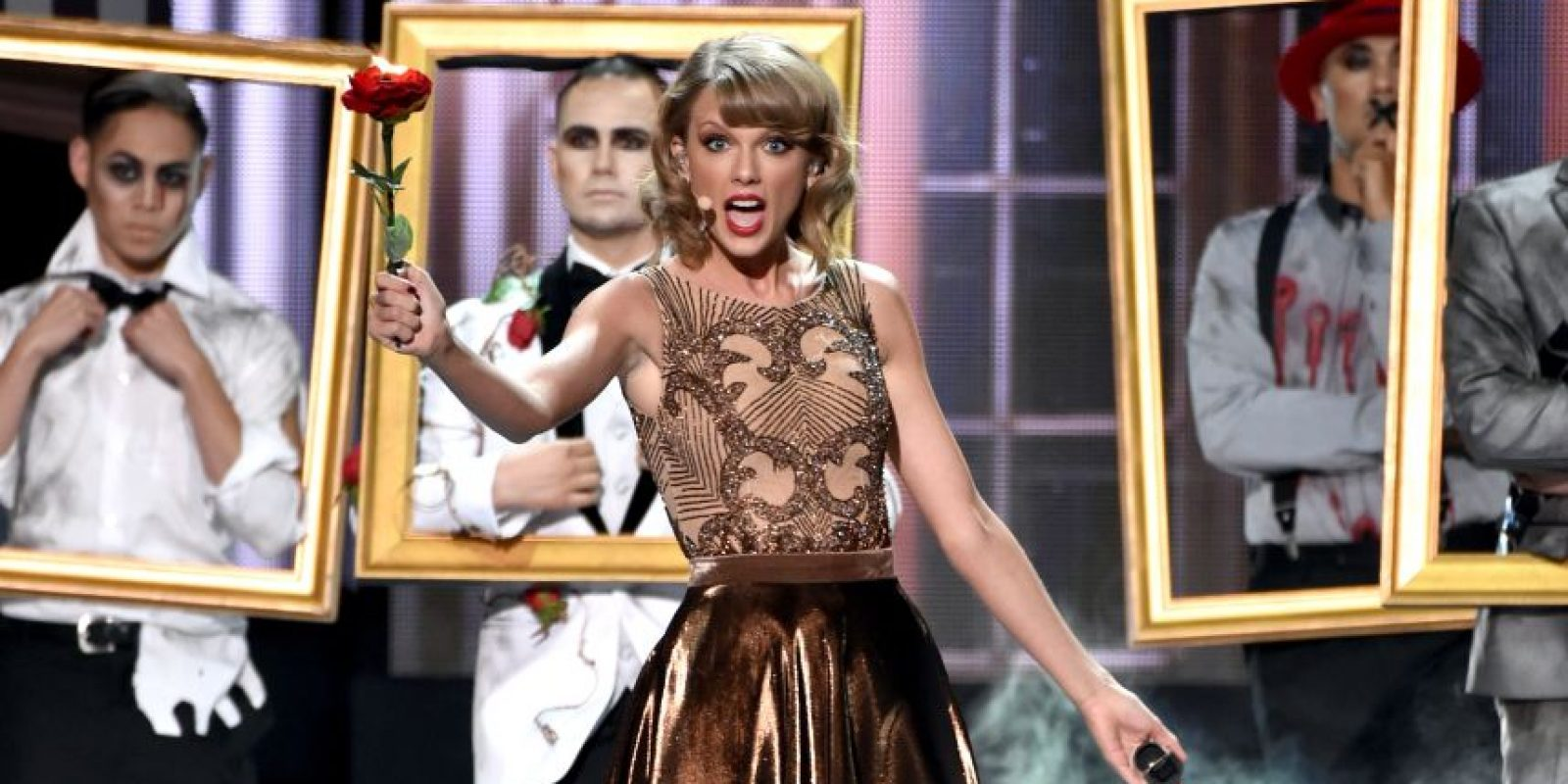 """Taylor Swift solo competirá con sus temas ya que su disco """"1989"""" no entro en competencia Foto:AFP"""