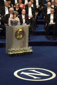 Juleen Zierath, encargada del Comité Nobel, en la categoría Medicina Foto:Getty Images