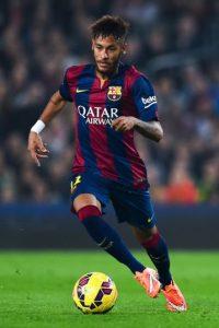 Neymar tiene 22 años de edad y juega en el Barcelona de España. Foto:Getty Images