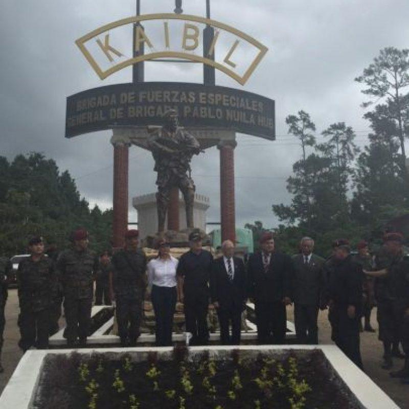 La celebración ha sido en Poptún, Petén. Foto:Ejército