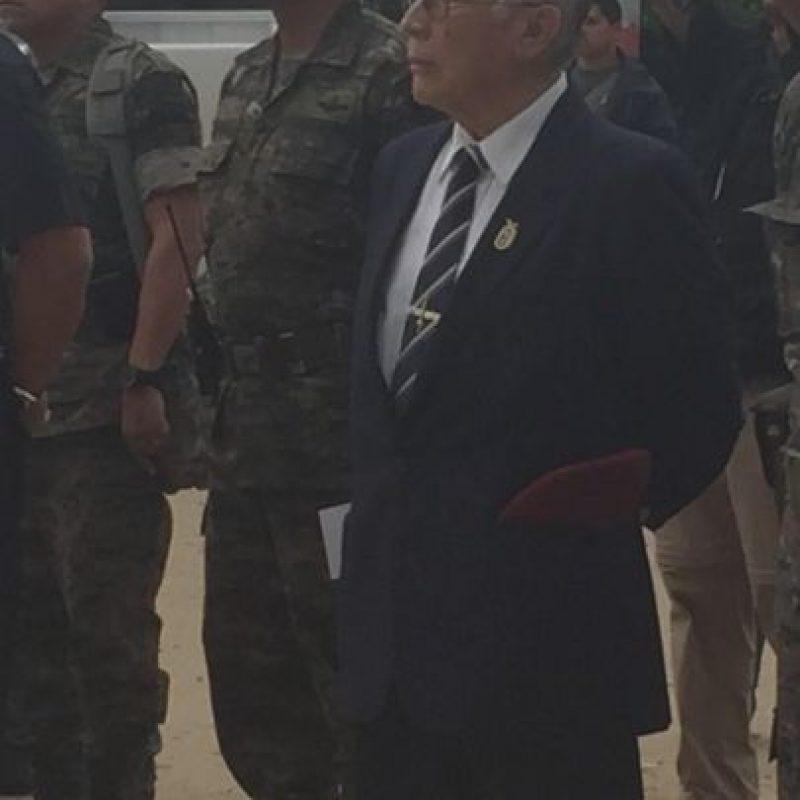 El general Pablo Nuila Hub, el kaibil 1. Foto:Ejército