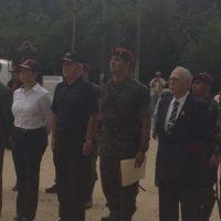 Los actos protocolarios de los 40 años de la fuerza especial militar. Foto:Ejército