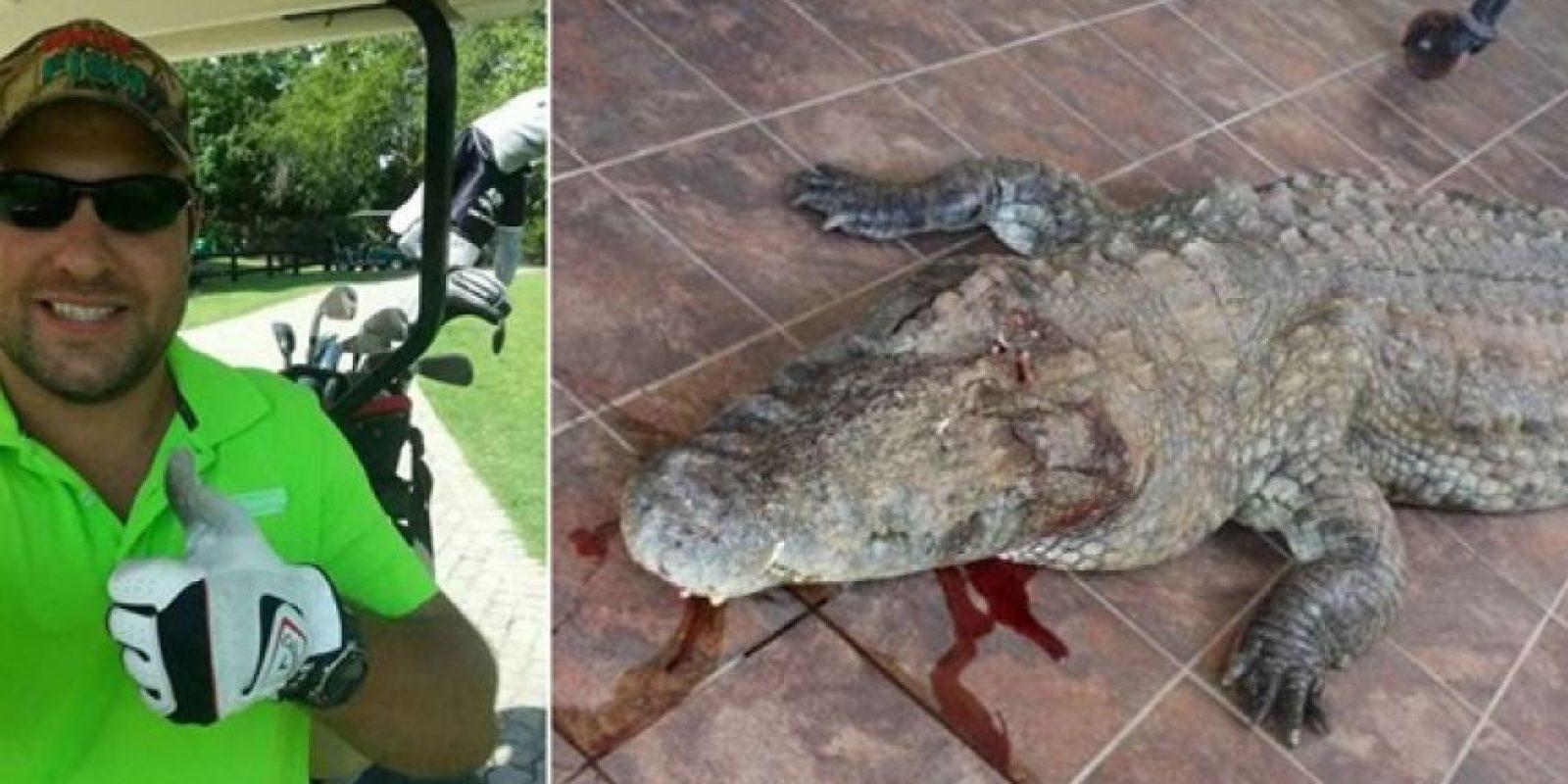 La guardia le dio muerte al cocodrilo que mató a Jacques van der Sandt. Foto:Agencias
