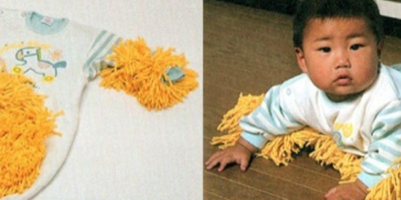 Esto evita que se ensucie el bebé. Foto:Twitter