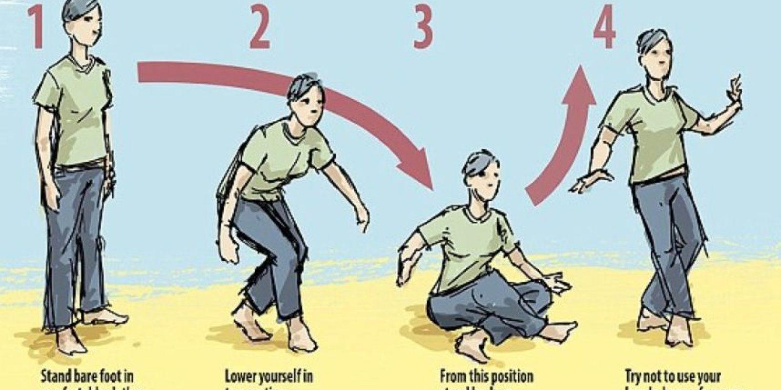 De los que ha de restarse un punto cada vez que utilice ayuda adicional y medio punto si pierde el equilibrio. Foto:Tumblr.com/Tagged-flexibilidad