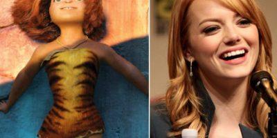 5. La actriz Emma Stone quien realizó la voz de Eep Croods también se parece a ella. Foto:Totally Looks Like