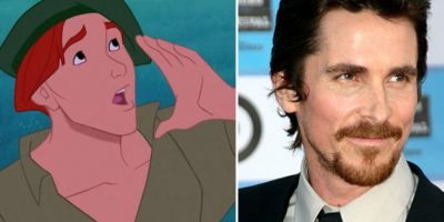 "13. El actor Christian Bale y Thomas de ""Pocahontas"" Foto:Totally Looks Like"