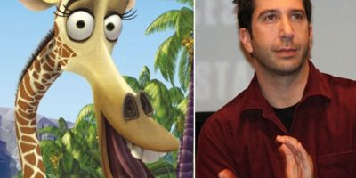 """14. El actor David Schwimmer también tiene parecido con Melman, la jirafa de """"Madagascar"""" Foto:Totally Looks Like"""