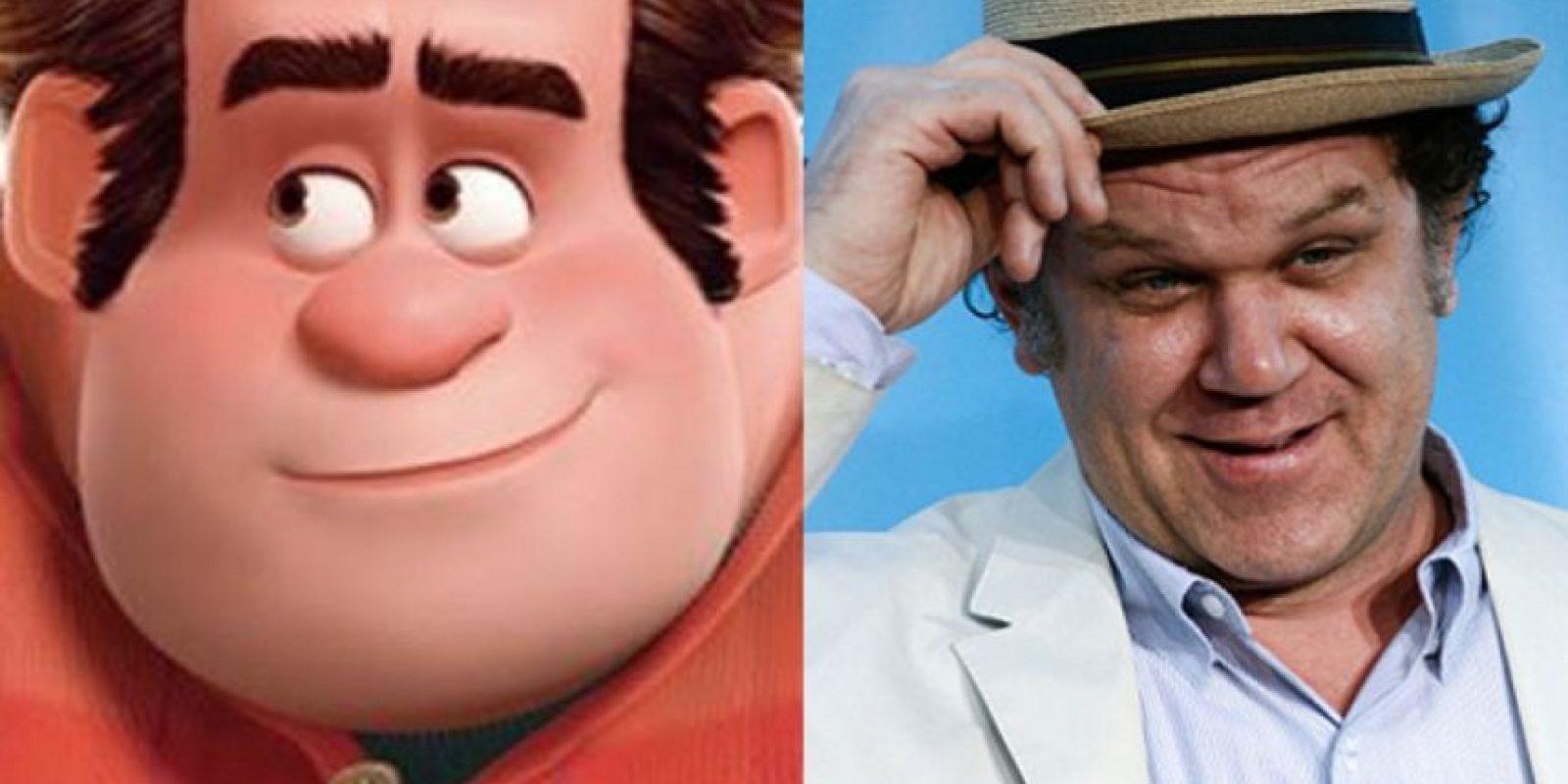 """15. El parecido entre ambos es mucho. John C. Reilly y """"Ralph el demoledor"""" Foto:Totally Looks Like"""