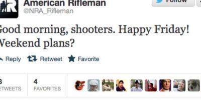 En un país con tragedias por armas, esto no debe pasar. Foto:Twitter