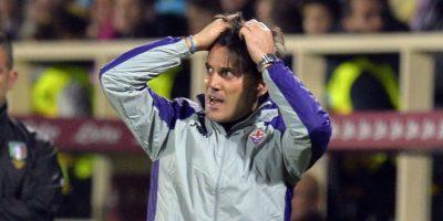 El entrenador del Fiorentina, Vincenzo Montella, vivió momentos intensos durante el partido. Foto:AFP
