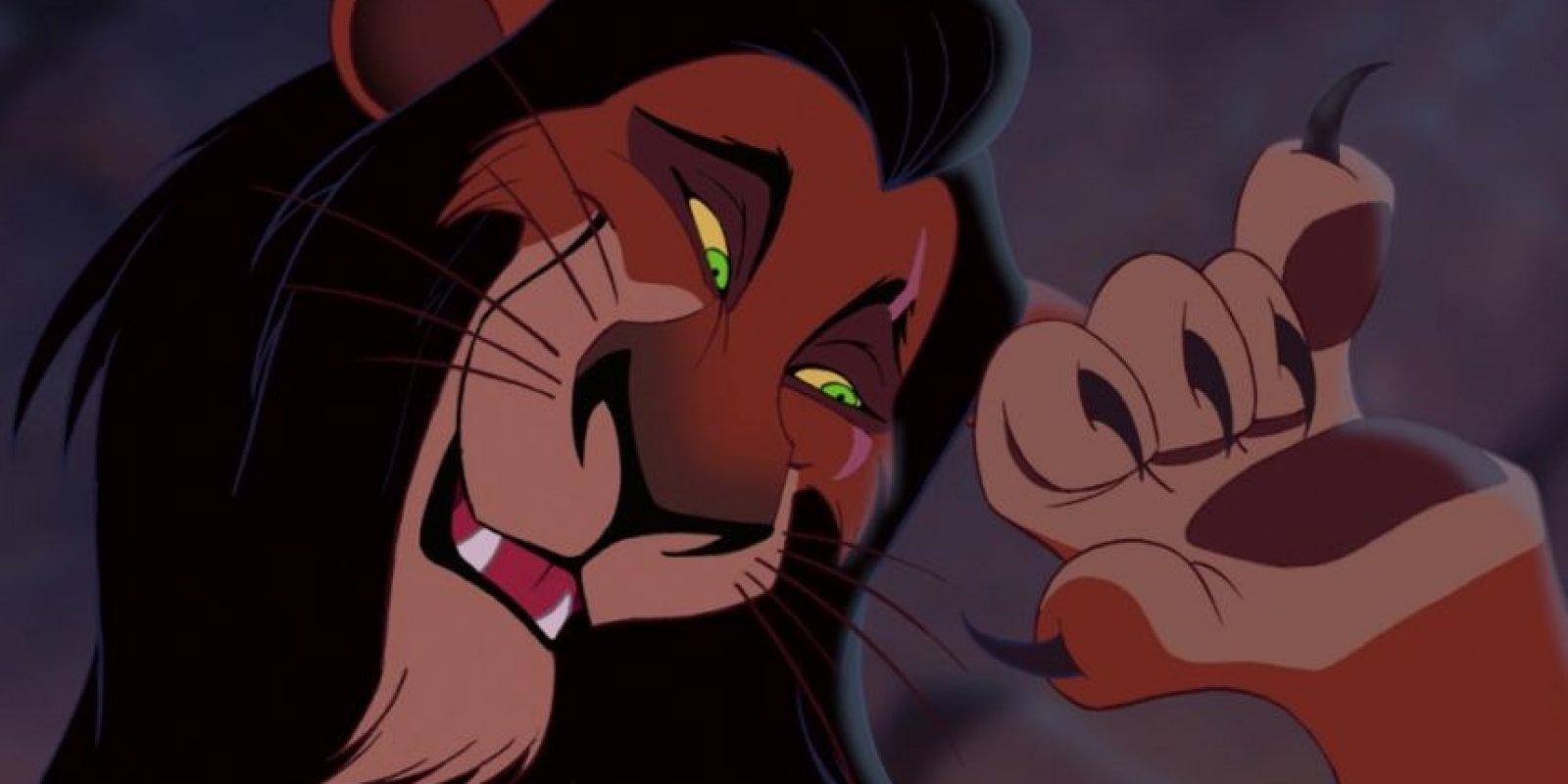 """Scar fue basado en Claudio, villano de """"Hamlet"""". Aparece en """"El Rey León"""", de 1994 Foto:Disney"""