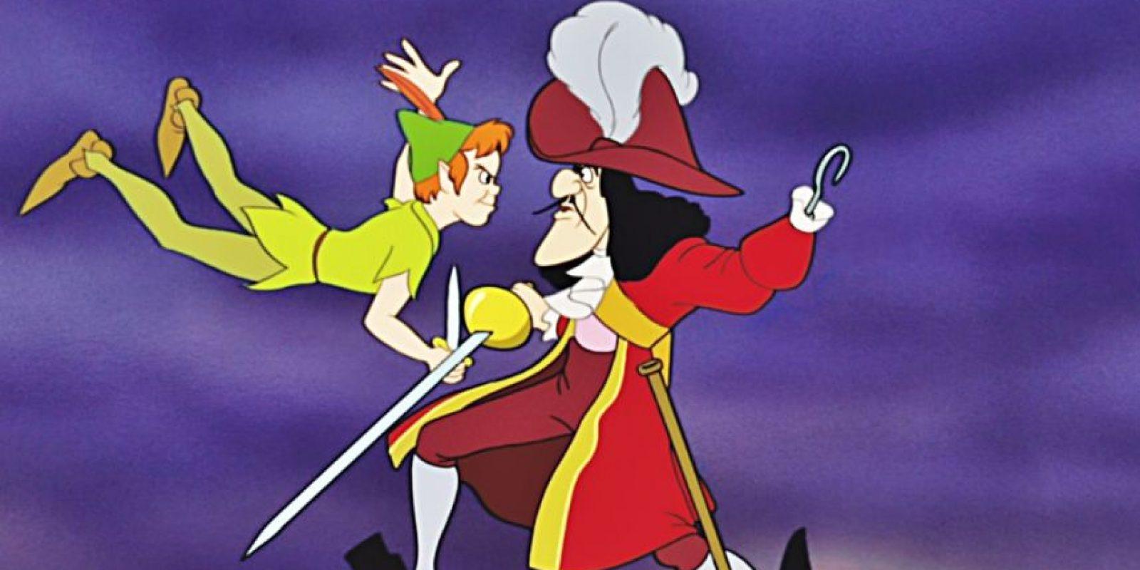 """""""El Capitán Garfio"""" es el villano de """"Peter Pan"""" (1953) Foto:Disney"""