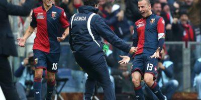 Luca Antonelli marcó el único tanto del juego. Foto:AFP
