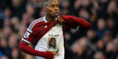 El selegalés Diafra Sakho hizo una dedicatoria especial luego de aber anotado ante el Swansea. Foto:AFP