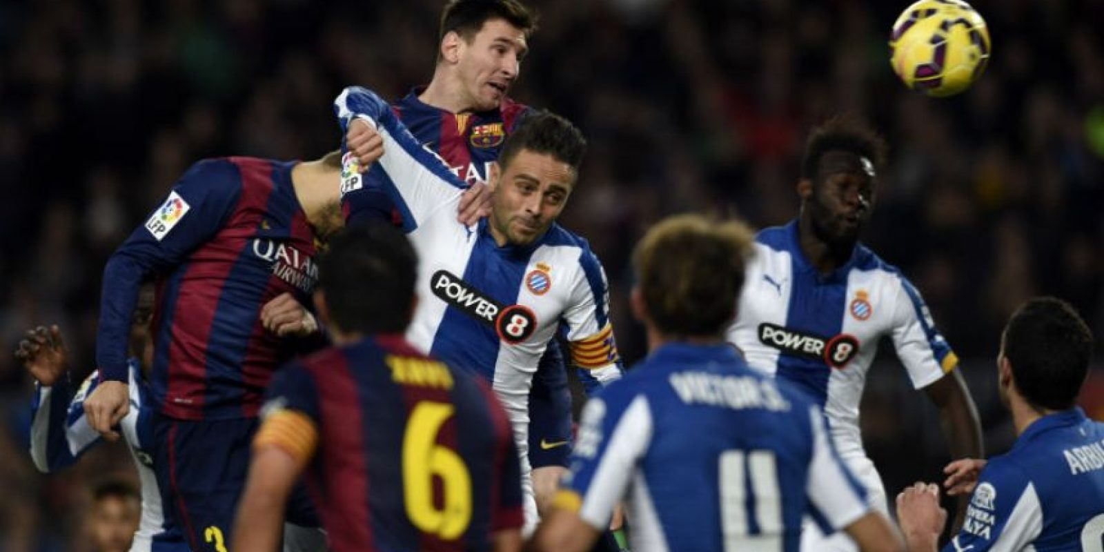 El Espanyol no pudo resistir ante la ofensiva del equipo azulgrana. Foto:AFP