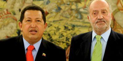 Hugo Chávez y Juan Carlos de España protagonizaron un incidente que siempre será recordado. Foto:Getty Images