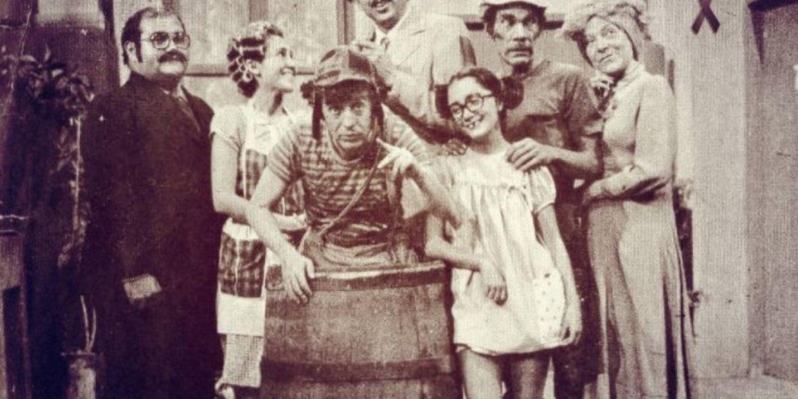 """Los días felices de """"El chavo del 8"""" Foto:facebook.com/pages/La-Chilindrina-Sitio-Oficial"""