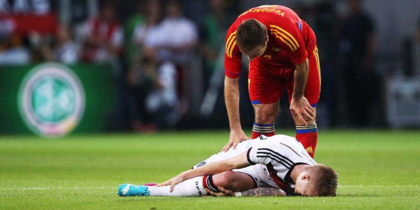 Representado al seleccionado alemán, Reus sufrió un desgarri parcial de un ligamento de la rodilla izquierda y una afectación en el talón. No pudo disputar la Copa del Mundo. Foto:Getty Images
