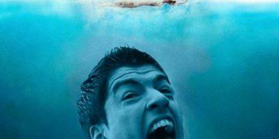 La mordida de Luis Suárez al italiano Giorgio Chiellini en el Mundial se hizo viral Foto:Twitter