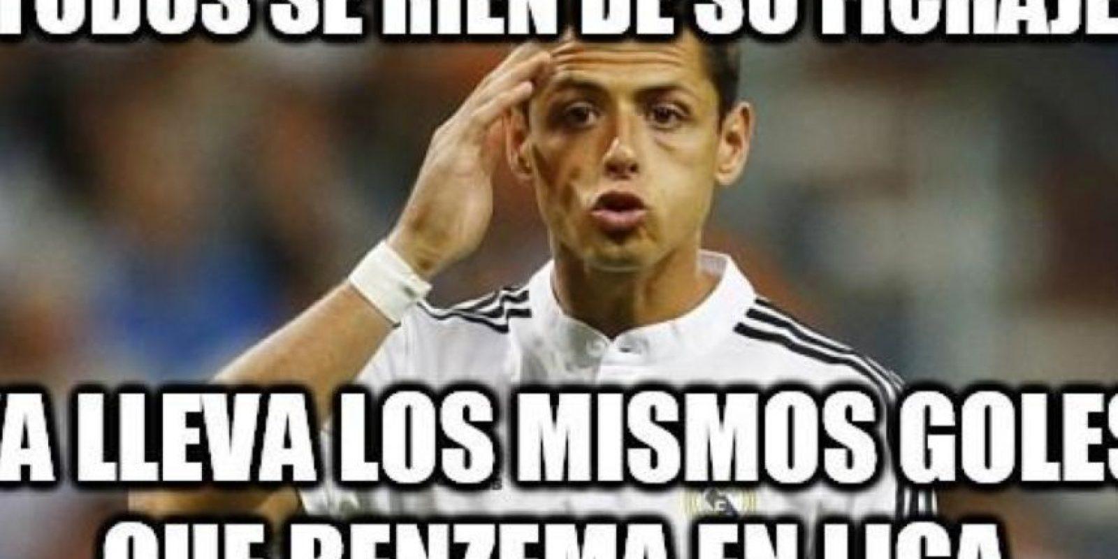 Chicharito arribó al Real Madrid el 1 de septiembre Foto:Twitter