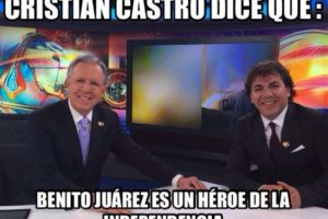En una entrevista con el periodista mexicano Joaquín López Doriga, Cristian Castro confundió a un personaje de la historia de México. Foto:Twitter