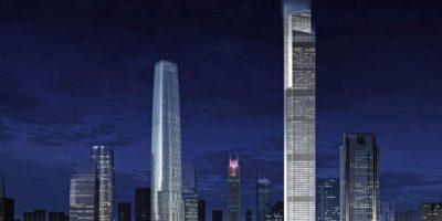 Tiene los elevadores más rápidos del mundo: suben a 70 km/h Foto:Kohn Pedersen – Skyscrapercenter.com