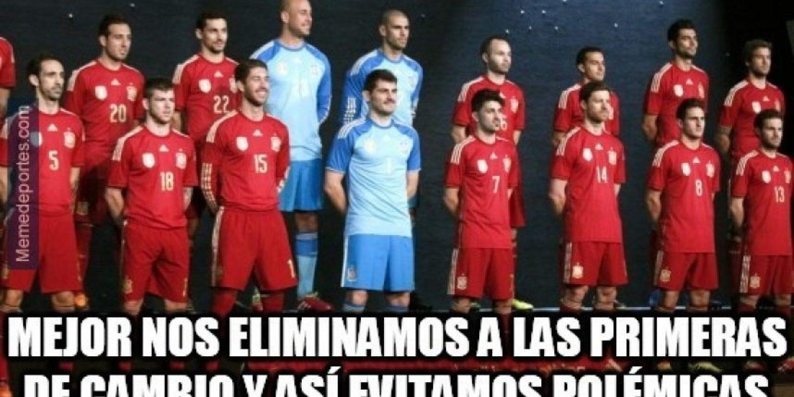 España decepcionó en el Mundial de Brasil Foto:Twitter