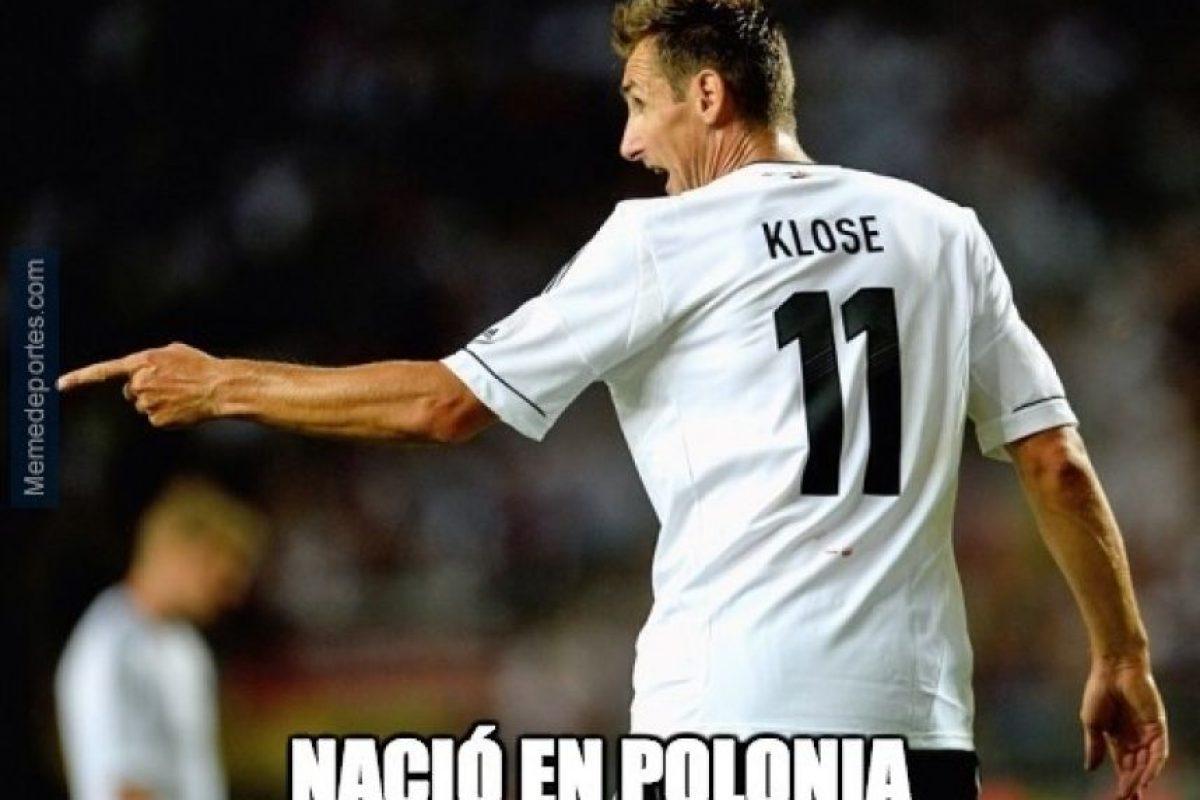 Miroslav Klose se convirtió en el máximo anotador en la historia de los Mundiales, con 16 dianas Foto:Twitter