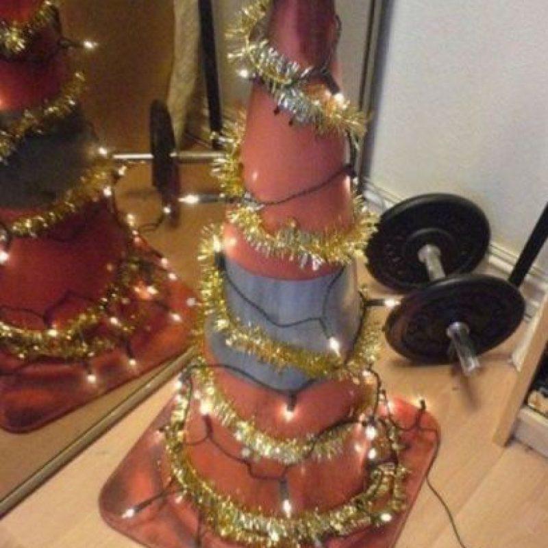 ¡En el gimnasio! Foto:Tumblr/Tagged-arbol-navidad