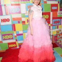 """La creadora de """"Girls"""" jamás se ha caracterizado por tener buen gusto para la alfombra roja. Foto:Getty Images"""