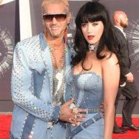 Para coronar, Katy Perry se fue vestida así. Foto:Getty Images