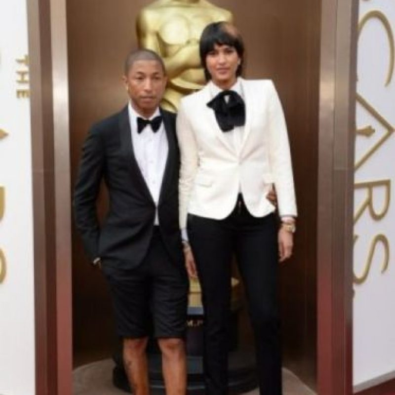 Pharrell es caso aparte. En los Óscar salió con esto. Foto:Getty Images