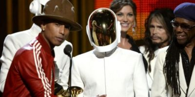 En los Grammy con el sombrero. Foto: Getty Images