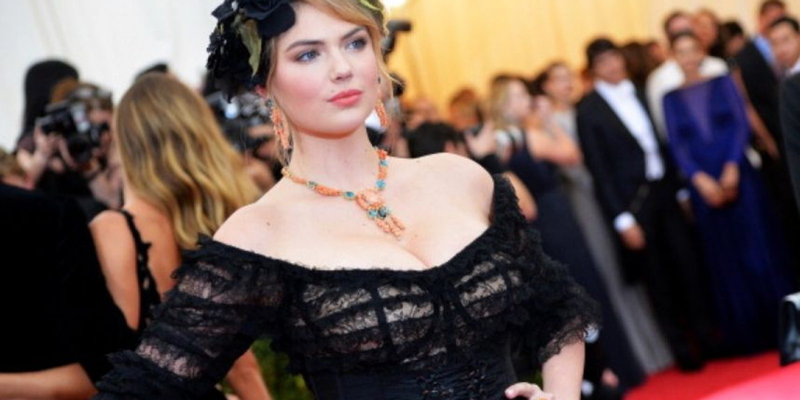 Kate Upton, en la gala del MET. Foto: Getty Images
