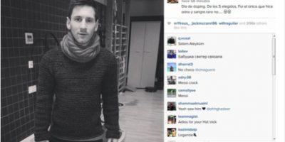 Lionel Messi se sorprende por su doble control antidopaje