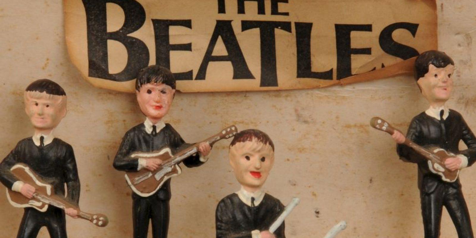 """Figuras de los integrantes de la banda """"The Beatles"""" Foto:Cooperowen.com"""