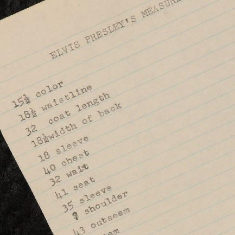"El set list de ""Elvis Presley"" Foto:Cooperowen.com"