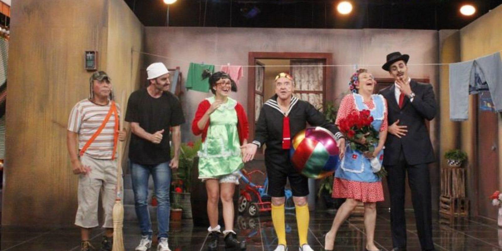 """Durante este programa especial también aparecieron otros personajes de """"El chavo del ocho"""" Foto:Fscebook/Porque hoy es sábado"""