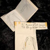 Los bocetos de John Lennon Foto:Cooperowen.com