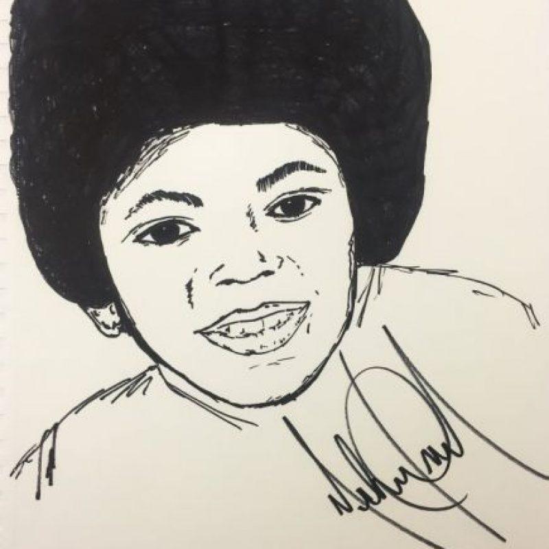 Un dibujo de Michael Jackson cuando era joven Foto:Cooperowen.com