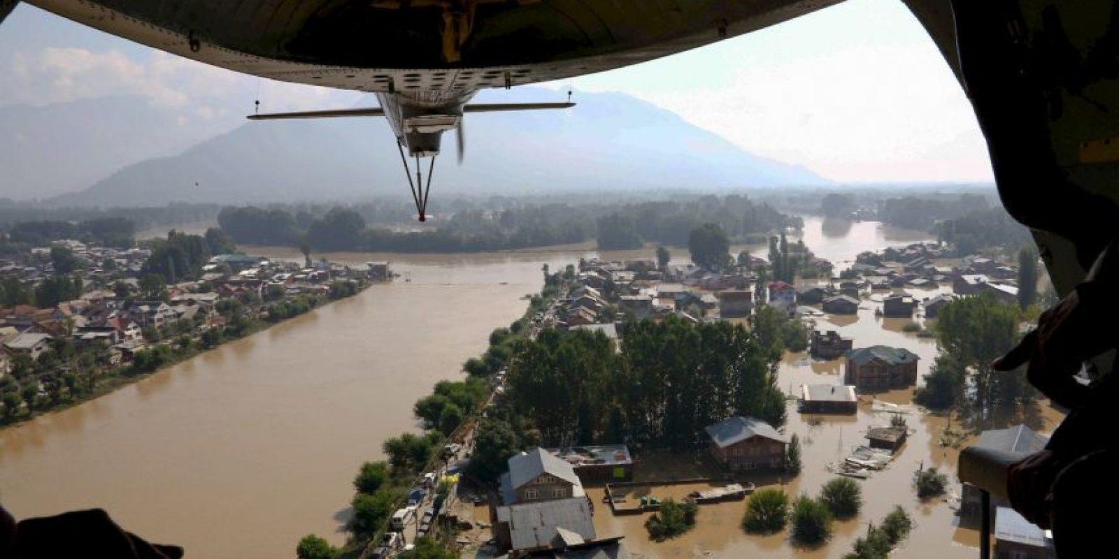 Inundaciones en India – Pakistán Foto:Getty Images