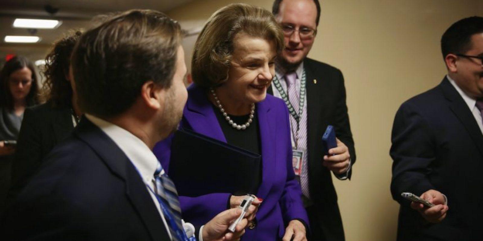 Dianne Feinstein, presidenta del Comité de Inteligencia del Senado. Foto:Getty Images
