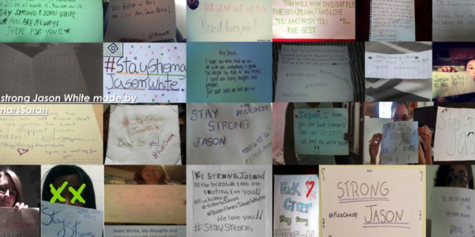 Los fans dedican mensajes de apoyo a Jason White Foto:Tumblr