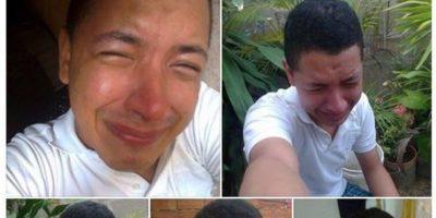 El que hace de su tragedia un collage. Foto:Guisadas y ñeradas de redes sociales.