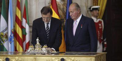 La renuncia al trono del Rey Juan Carlos I, después de 39 años en el poder. Foto:Getty Images